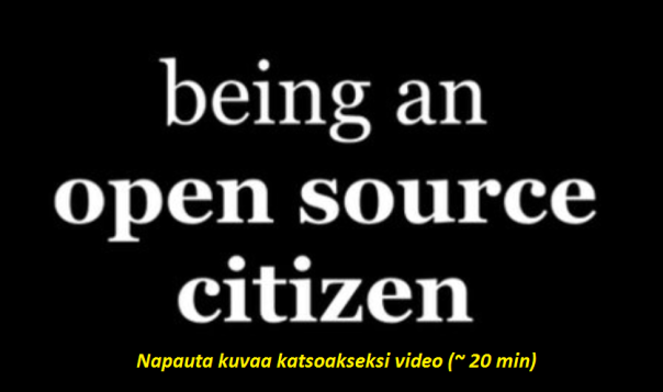 being an open source citizen: video 20min
